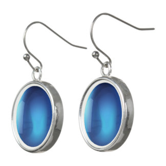 Blue Crystal Ball Earrings