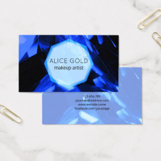 Blue crystal business card