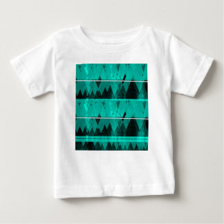Blue Crystal Ice Mountain Pattern Baby T-Shirt