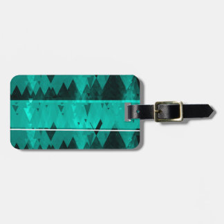 Blue Crystal Ice Mountain Pattern Luggage Tag