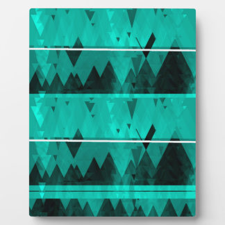 Blue Crystal Ice Mountain Pattern Plaque