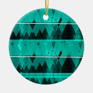 Blue Crystal Ice Mountain Pattern Round Ceramic Decoration