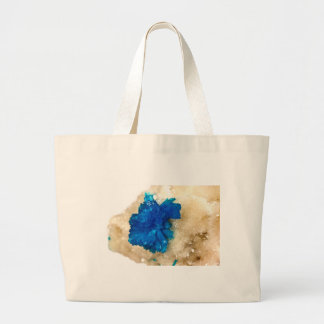 Blue Crystal Rock Hound Collector Gemology Jumbo Tote Bag