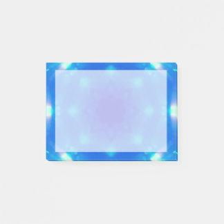 Blue Crystal Star Mandala Post-it Notes