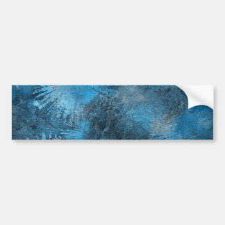 Blue Crystallized Ice Bumper Sticker