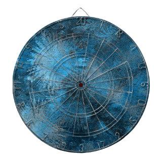 Blue Crystallized Ice Dartboard With Darts