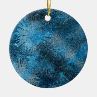 Blue Crystallized Ice Christmas Tree Ornaments