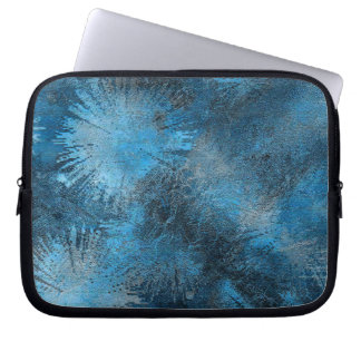 Blue Crystallized Ice Laptop Sleeves