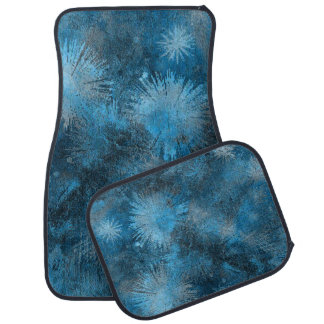 Blue Crystallized Ice Floor Mat