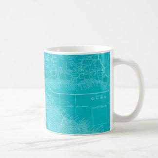 Blue Cuba Map Coffee Mug