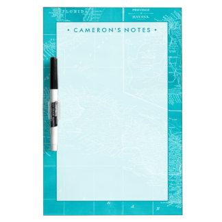 Blue Cuba Map Dry-Erase Whiteboard