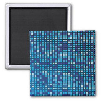 Blue Cubes Magnet