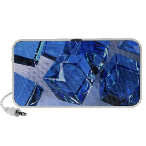 blue cubes travelling speaker
