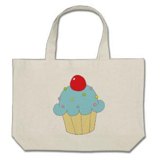 Blue Cupcake Tote Bags