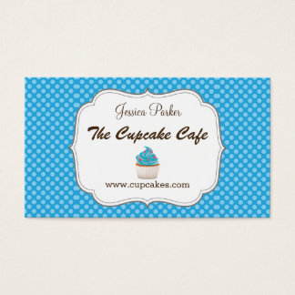 Blue Cupcake Business Card