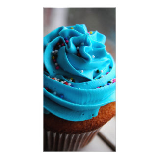 Blue Cupcake Photograph Photo Cards