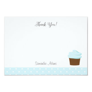 Blue Cupcake Thank You Card