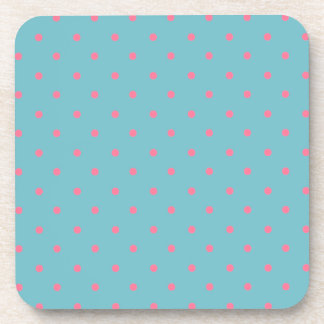 Blue Curacao And Pink Polka Dots Drink Coaster