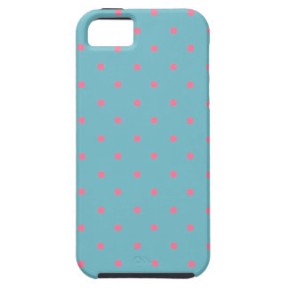 Blue Curacao And Pink Polka Dots iPhone 5 Cases