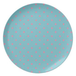Blue Curacao And Pink Polka Dots Party Plates