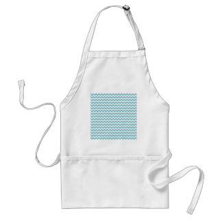 Blue-Curacao And-White-Zigzag-Chevron-Pattern Apron