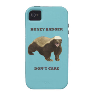 Blue Curacao Honey Badger Dont Care Vibe iPhone 4 Cover