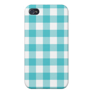 Blue Curacao Woven Gingham Iphone 4 Case