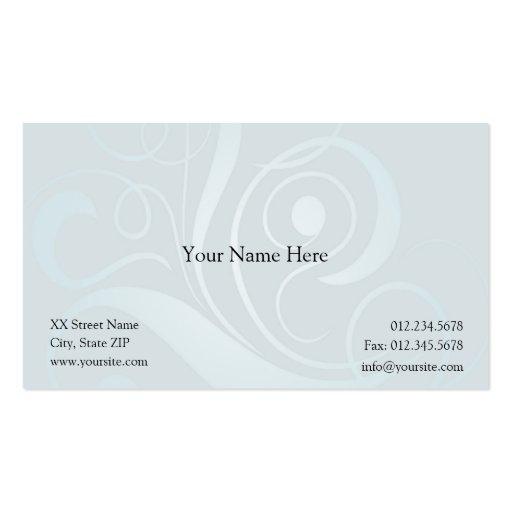 Blue Curls Business Card Templates