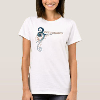Blue Curly Swirl Tennessee T-Shirt