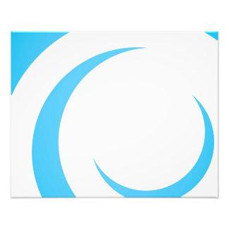 Blue Curves Design Photo Art