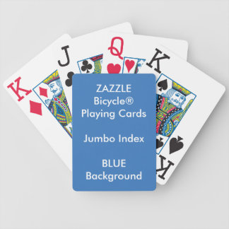 BLUE Custom Bicycle® Jumbo Index Playing Cards