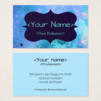 Blue Customizeable Spiritual Buisness Card