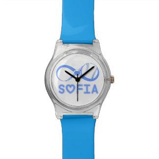 Blue Customized Baseball clock Watch