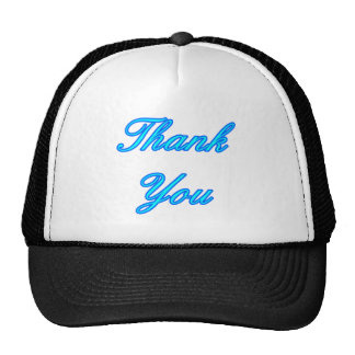 Blue Cyan Thank You Design The MUSEUM Zazzle Gifts Trucker Hats
