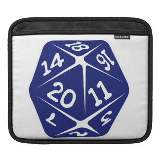Blue d20 sleeves for iPads