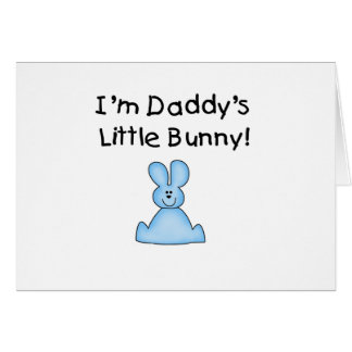 Blue Daddy's Little Bunny T-shirts and Gifts Greeting Card