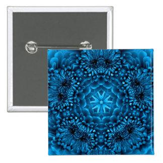 BLUE DAHLIA 15 CM SQUARE BADGE