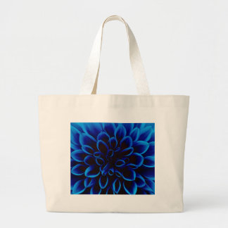 Blue Dahlia Large Tote Bag