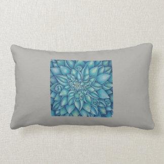 Blue Dahlia Lumbar Cushion