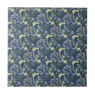 Blue Daisies by William Morris Ceramic Tile