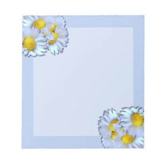 Blue Daisies Notepad