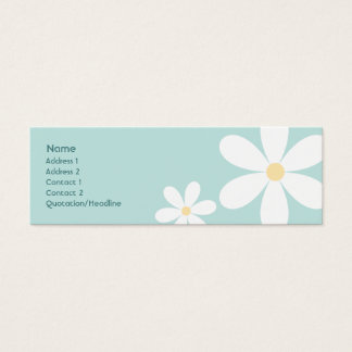 Blue Daisies - Skinny Mini Business Card