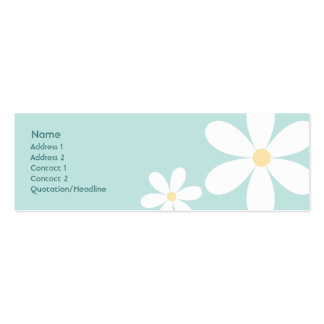 Blue Daisies - Skinny Pack Of Skinny Business Cards