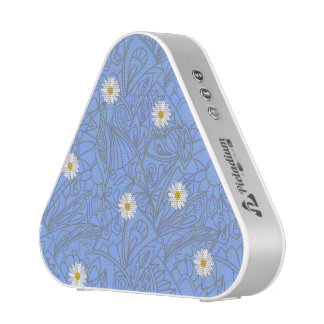 Blue daisies striped pattern. Wedding style