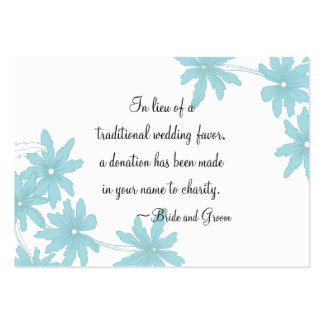 Blue Daisies Wedding Charity Favor Card Pack Of Chubby Business Cards