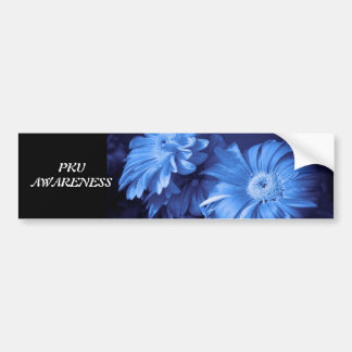 Blue Daisy bumper sticker