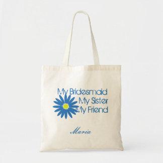 Blue Daisy/ Customizable Budget Tote Bag
