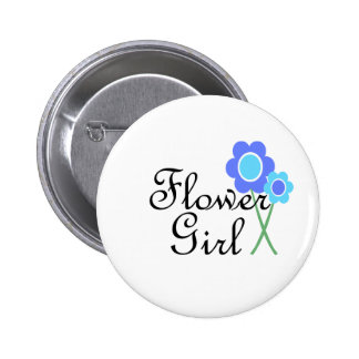 Blue Daisy Flower Girl 6 Cm Round Badge