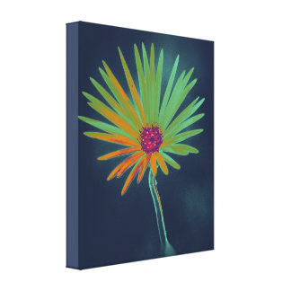 Blue Daisy Flower Stretched Canvas Prints