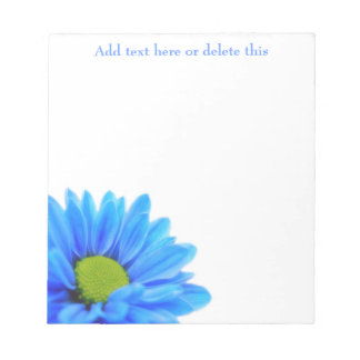 Blue Daisy Notepad